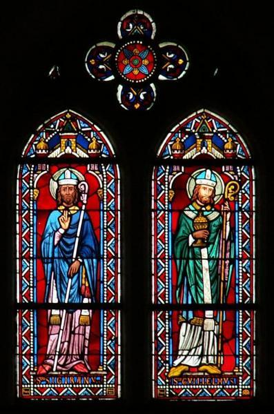 Verrière représentant saint Cyran et saint Guillaume