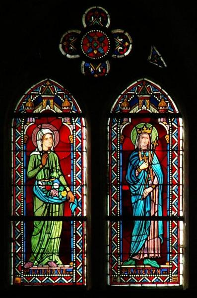 Verrière représentant sainte Germaine et sainte Radegonde
