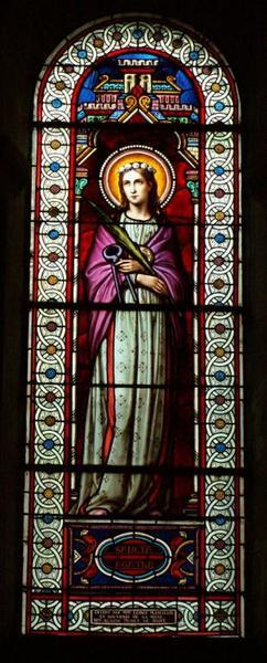 Verrière représentant sainte Agathe