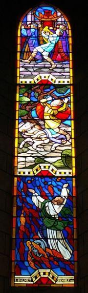 Verrière représentant David, Absalon et Elie