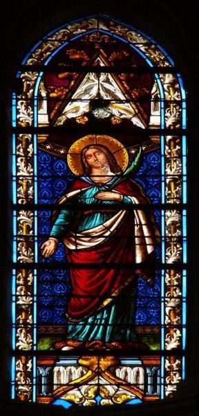 Verrière représentant une sainte martyre