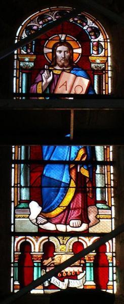 Verrière représentant le Christ bénissant