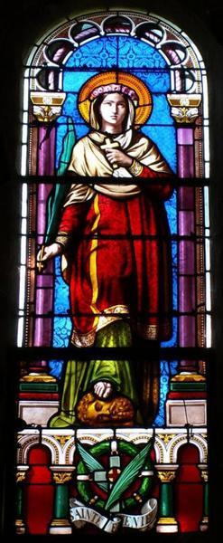 Verrière représentant sainte Eugénie