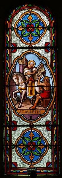Verrière figurant la Charité de saint Martin
