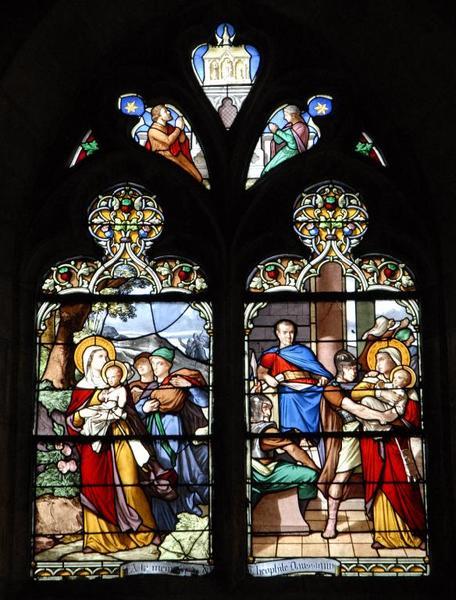 Verrière représentant la Vie de saint Cyr et sainte Julitte