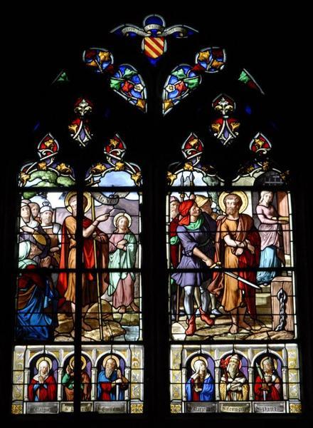 Verrière représentant la Vie de saint Jean-Baptiste