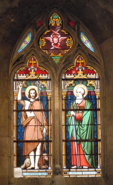 Verrière représentant saint Jean-Baptiste et saint Paul