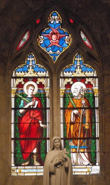 Verrière représentant saint Talaise et saint Baye, martyrs d'Issoudun