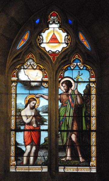 Verrière représentant le Baptême du Christ