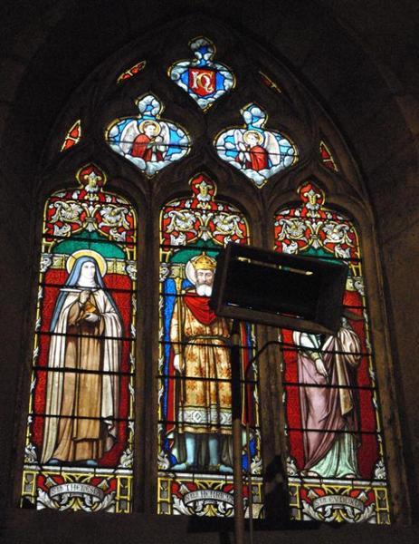 Verrière représentant sainte Thérèse, saint Henri et sainte Eudoxie