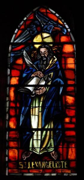 4 verrières figurant saint Joseph et saint Jean