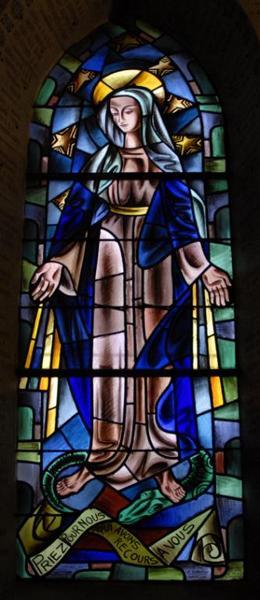 Verrière représentant la Vierge aux rayons