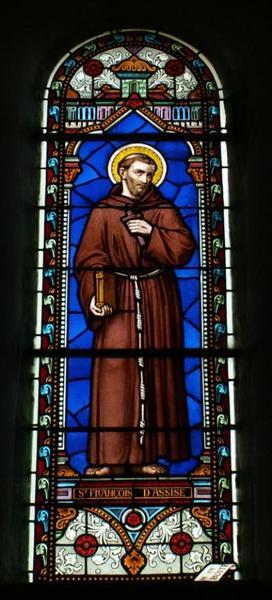 Verrière représentant saint François d'Assise