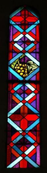 3 verrières à symboles eucharistiques
