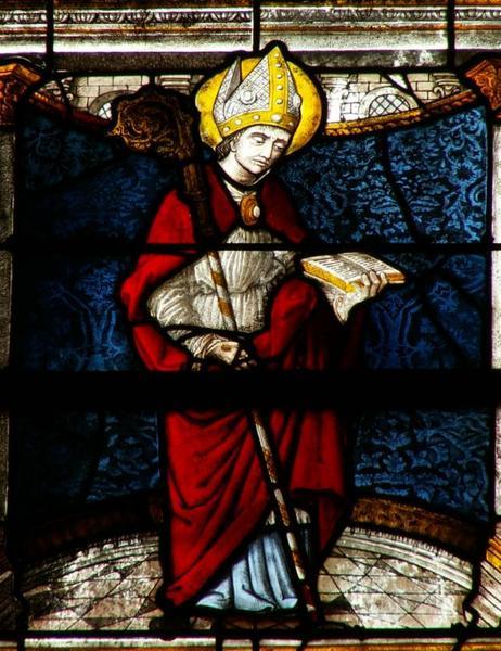 Verrière représentant la Vie de saint Laurian