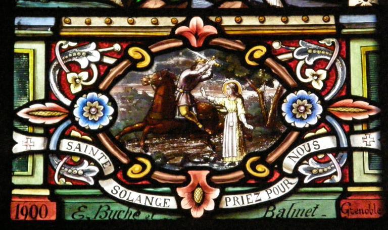 Verrière représentant sainte Solange