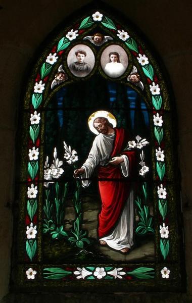 Verrière figurant le Christ