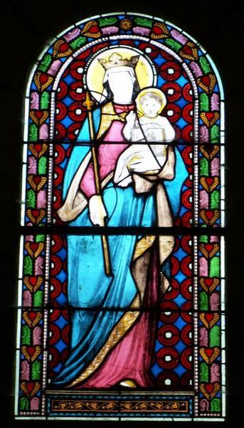 2 verrières représentant la Vierge à l'Enfant et saint Joseph