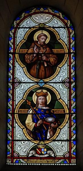 Verrière représentant saint François et saint Louis