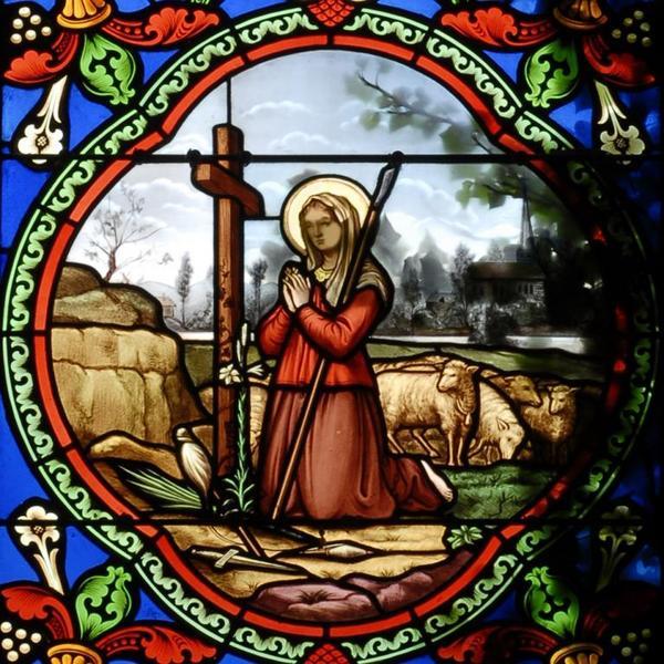 Verrière représentant la vie de sainte Solange