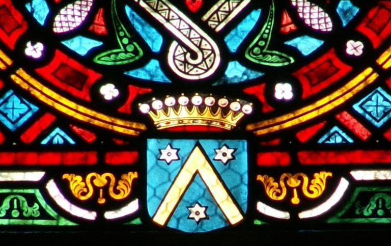 Verrière représentant la sainte Trinité