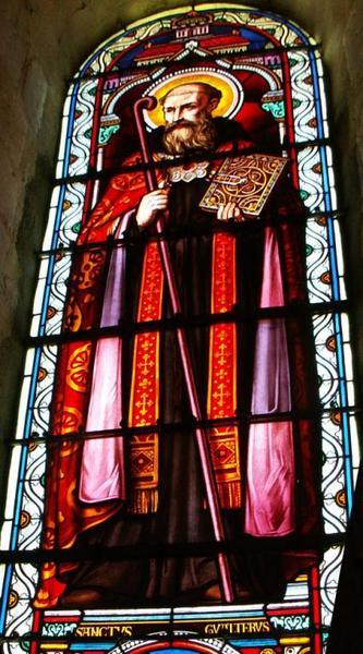 Verrière représentant saint Gaultier