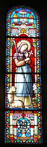 3 verrières représentant saint Martin, sainte Solange et sainte Radegonde
