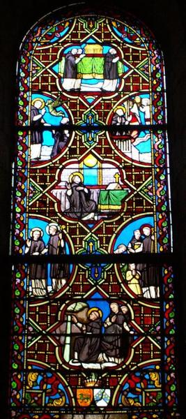 Verrière représentant la Vie de saint Benoît