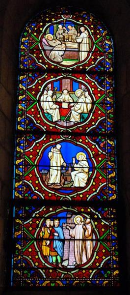 Verrière représentant la Vie de saint Etienne Harding