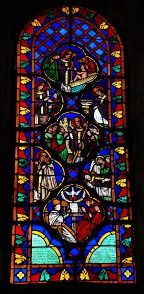 Verrière représentant la Vie de saint Hilaire de Poitiers