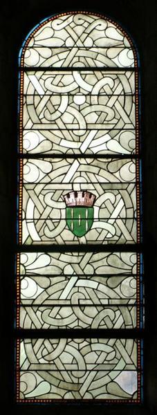 Verrière dite cistercienne aux armes de la Ville de Loches