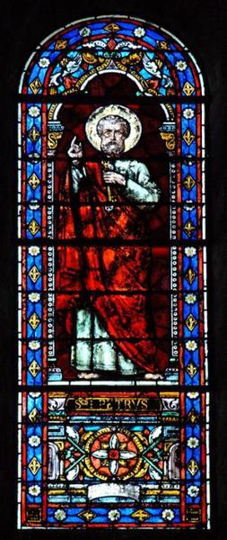 Verrière représentant saint Pierre