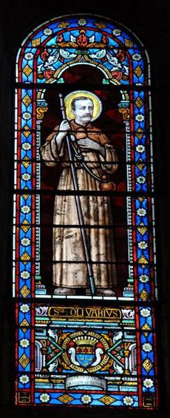 Verrière représentant saint Olivier