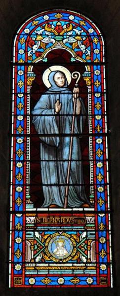 Verrière représentant saint Bernard de Thiron