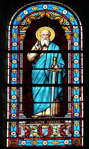 7 verrières représentant saint Paul, sainte Marguerite, saint Etienne, saint Augustin, saint Edmond, saint Henri et saint Louis