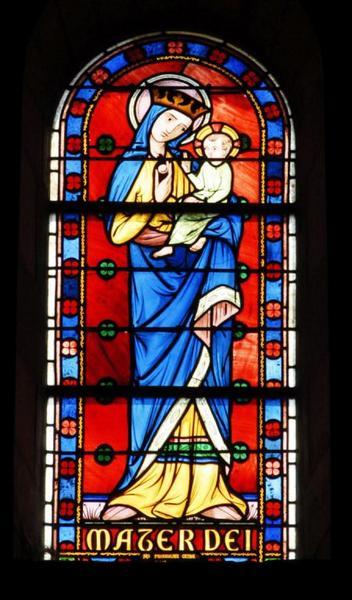 7 verrières représentant la Vierge et les prophètes
