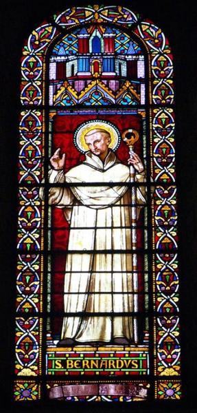 Verrière représentant saint Bernard de Clairvaux
