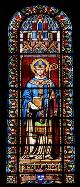Verrière représentant saint Guillaume de Bourges
