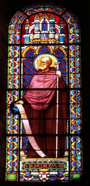 Verrière représentant saint Benoît