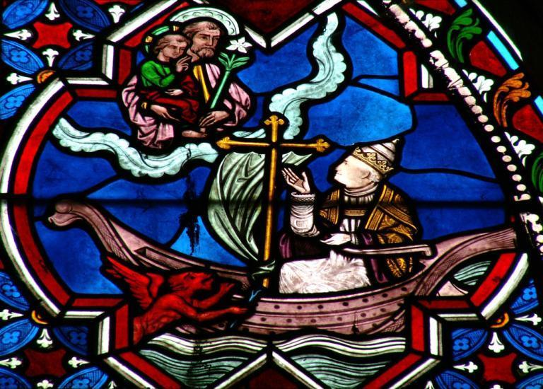 Verrière représentant la Vie de saint Joseph