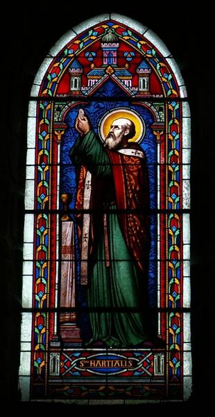 Verrière représentant saint Martial