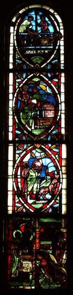 Verrière représentant la Vie de saint Denis