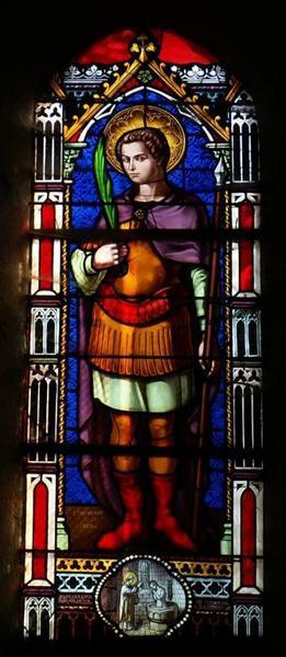 Verrière représentant saint Hippolyte