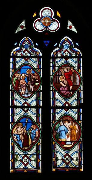 2 verrières figurant la Vie de saint Jean-Baptiste et la Vie de la Vierge