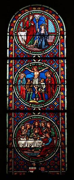 6 verrières archéologiques illustrant les Vies du Christ, de la Vierge et de Joseph