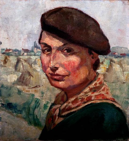 tableau : autoportrait de Jeanne Champillou