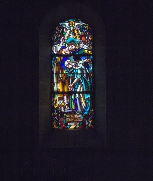 6 verrières représentant la Vie de la Vierge