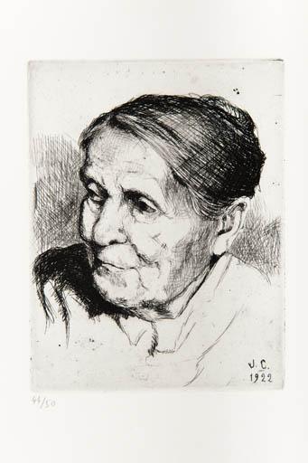eau-forte : la grand-mère maternelle de Jeanne Champillou