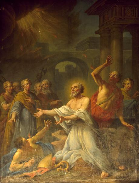 tableau d'autel (retable du maître-autel) : scène religieuse