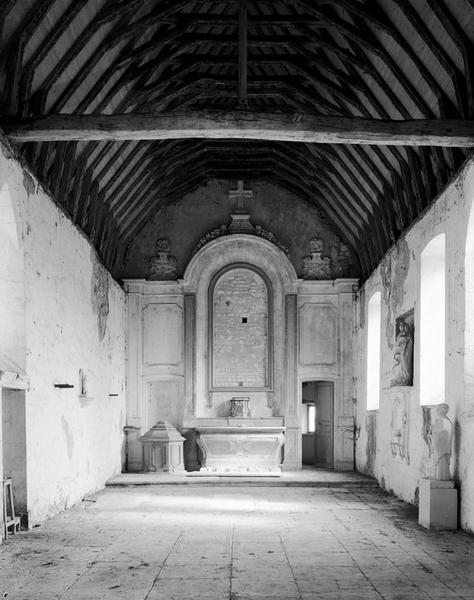 ensemble du maître-autel : autel, tabernacle, retable (maître-autel, autel tombeau, retable architecturé)